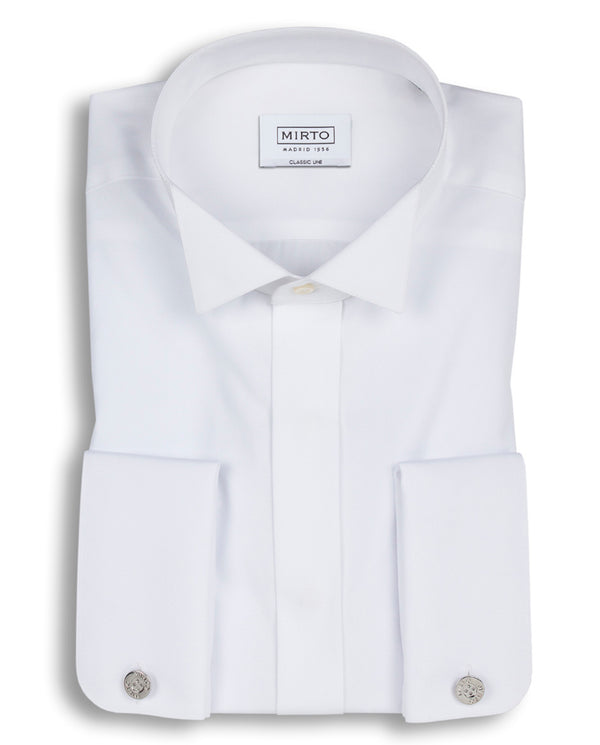 WING COLLAR TUXEDO SHIRT by MIRTO