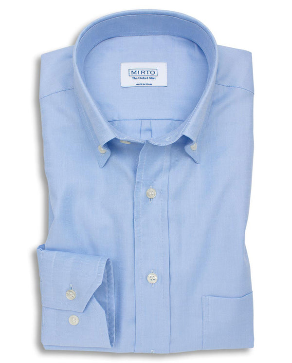 BLUE BUTTON DOWN OXFORD SHIRT (BIG&TALL) by MIRTO