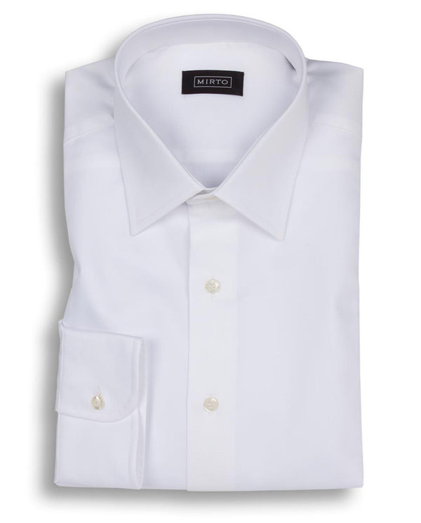 WHITE CLASSIC COLLAR DRESS SHIRT (BIG&TALL) by MIR