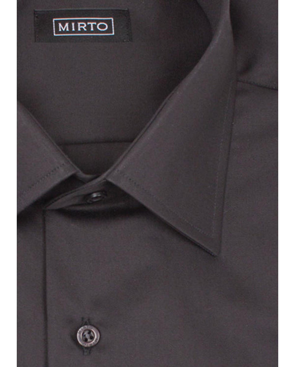 BLACK CLASSIC COLLAR DRESS SHIRT (BIG&TALL) by MIR