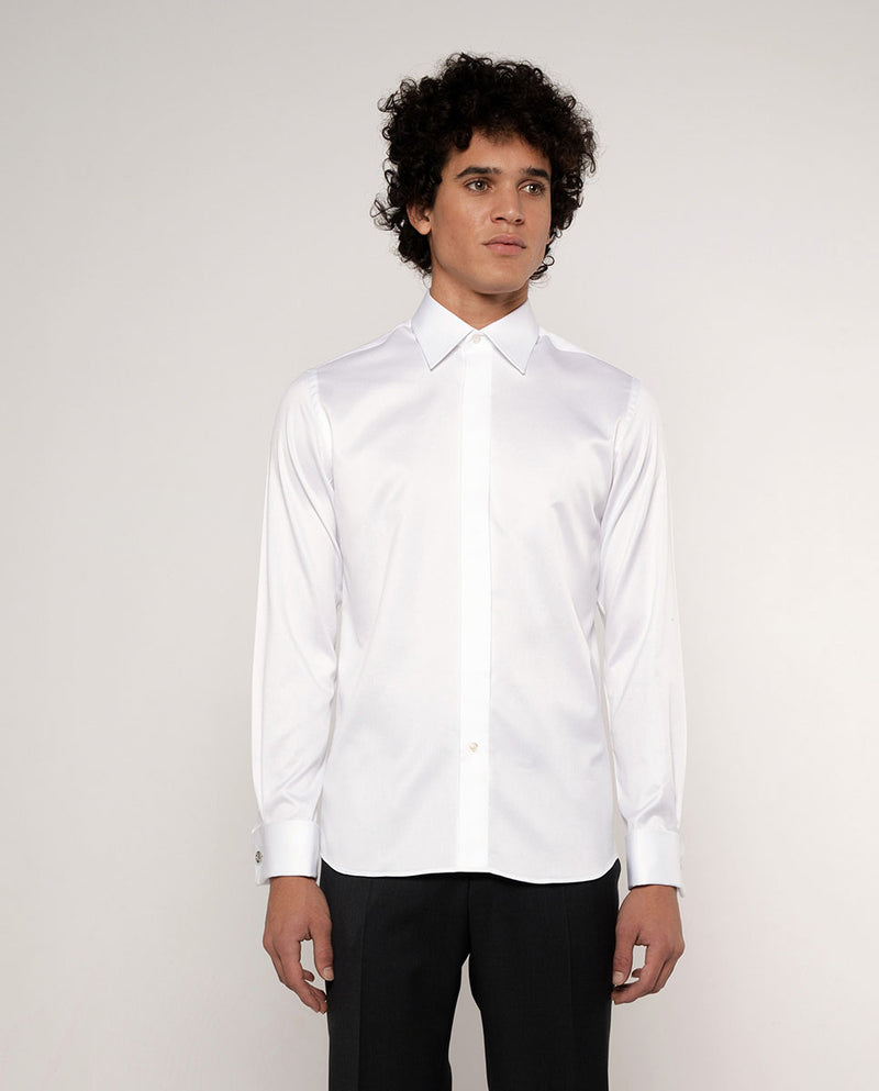 CLASSIC COLLAR TAILORED-FIT TUXEDO SHIRT