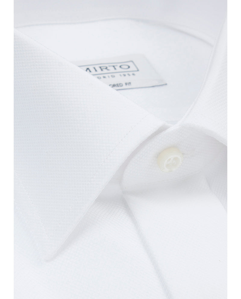 CLASSIC COLLAR TAILORED-FIT TUXEDO SHIRT by MIRTO