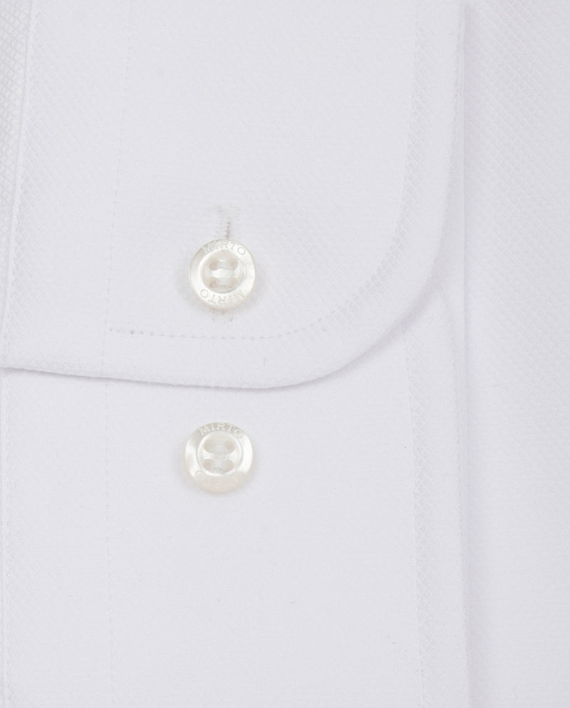 WHITE SPREAD-COLLAR TAILORED-FIT DRESS SHIRT by MI