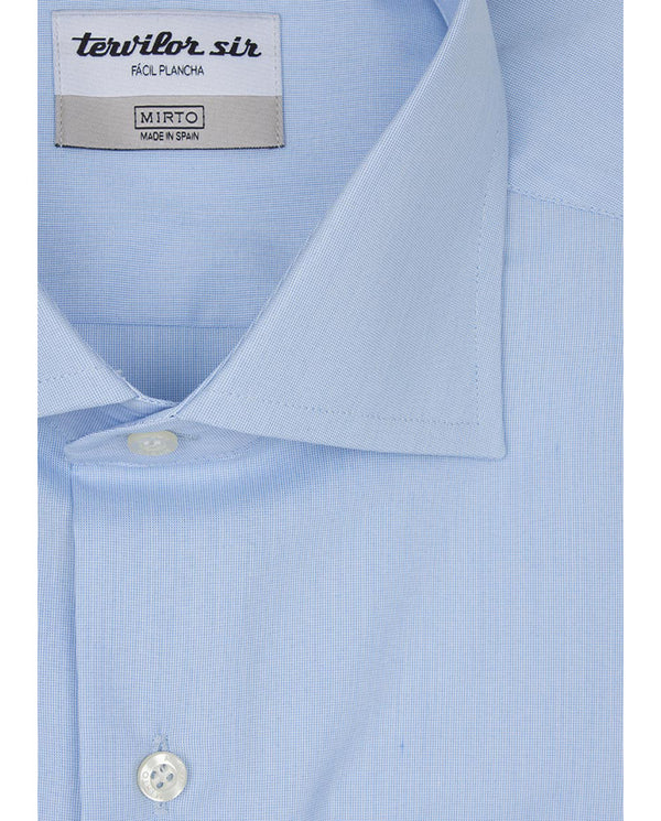 BLUE SPREAD-COLLAR TERVILOR SIR SHIRT by MIRTO