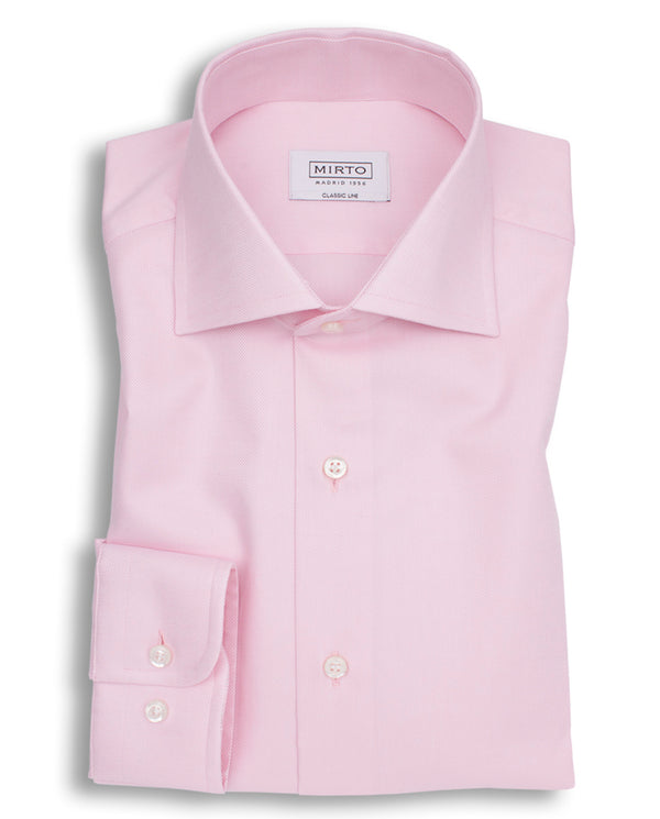 PINK SPREAD-COLLAR DRESS SHIRT by MIRTO
