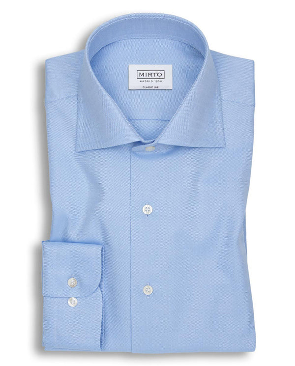 BLUE SPREAD-COLLAR DRESS SHIRT by MIRTO