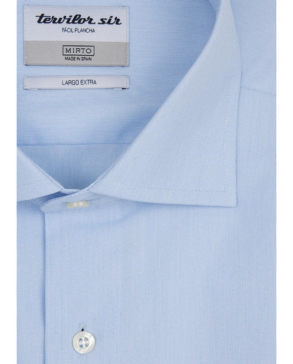 BLUE EXTRA-LONG TERVILOR SIR SHIRT by MIRTO