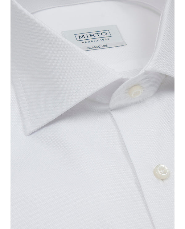 WHITE SPREAD-COLLAR DRESS SHIRT (BIG&TALL) by MIRT
