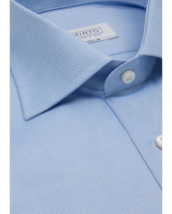 BLUE SPREAD-COLLAR DRESS SHIRT (BIG&TALL) by MIRTO