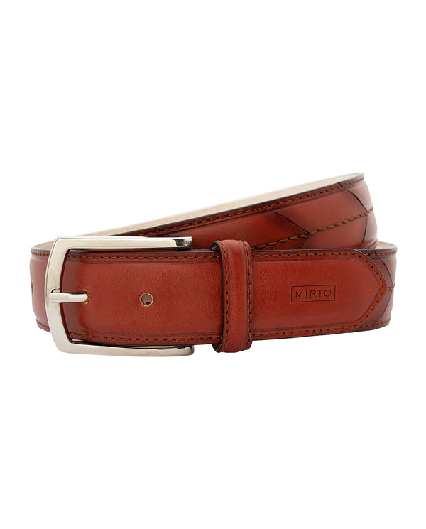 LEATHER DRESS BELT by MIRTO