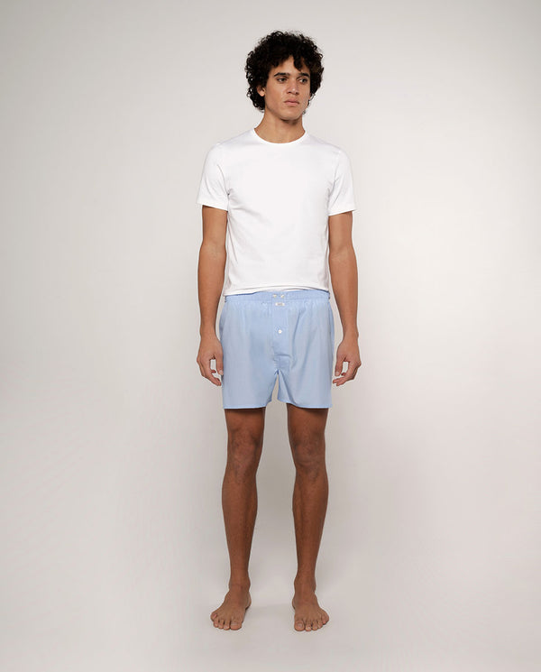 BLUE FIL-A- FIL COTTON BOXER SHORTS