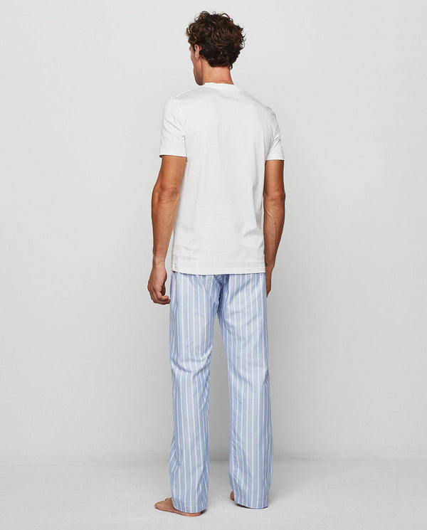 WHITE STRIPED OXFORD PYJAMA SET