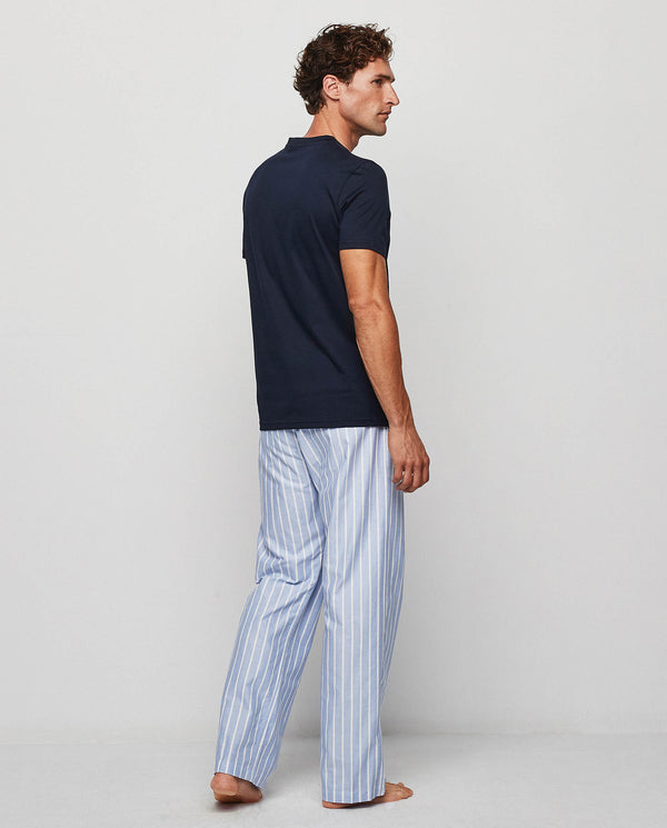 BLUE & WHITE OXFORD PYJAMA SET