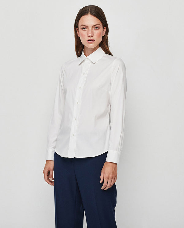 STRECH COTTON WHITE ESSENTIAL SHIRT