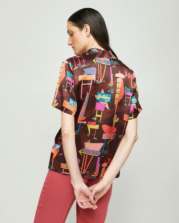 HAWAIIAN SHORT SLEEVE LIBERTY PRINT SHIRT