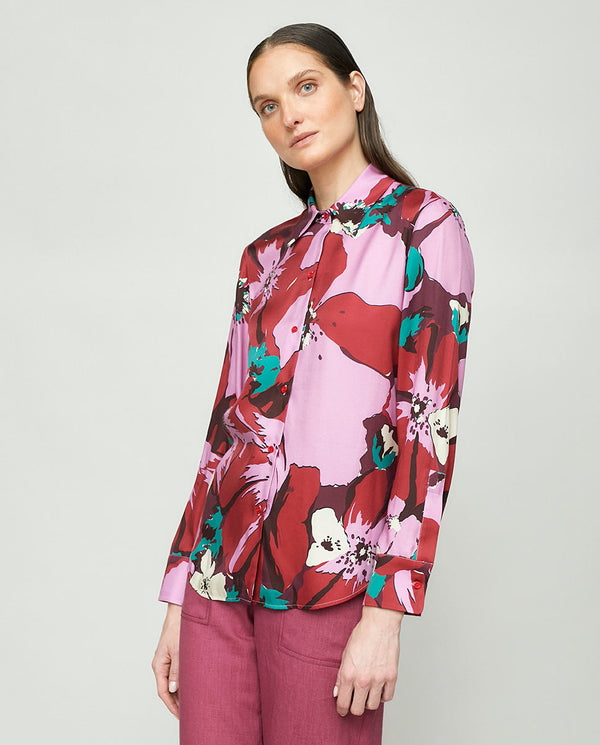 LONG SLEEVE PRINTED BLOUSE