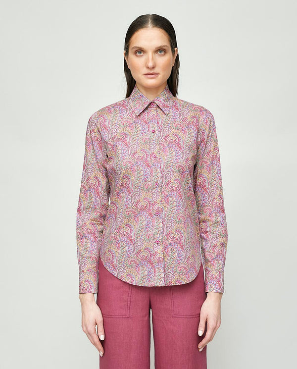 PURPLE LIBERTY PRINT SHIRT