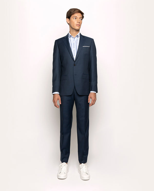 FIL-A-FIL DARK-BLUE SUPER 120'S WOOL SUIT
