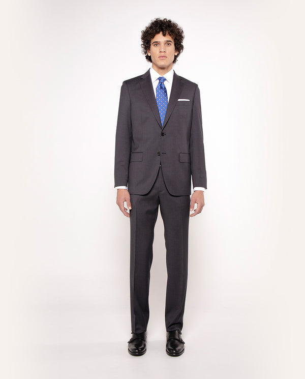 "TRAJE ""TRAVEL SUIT"" LANA SUPER 100's MARENGO by MI"