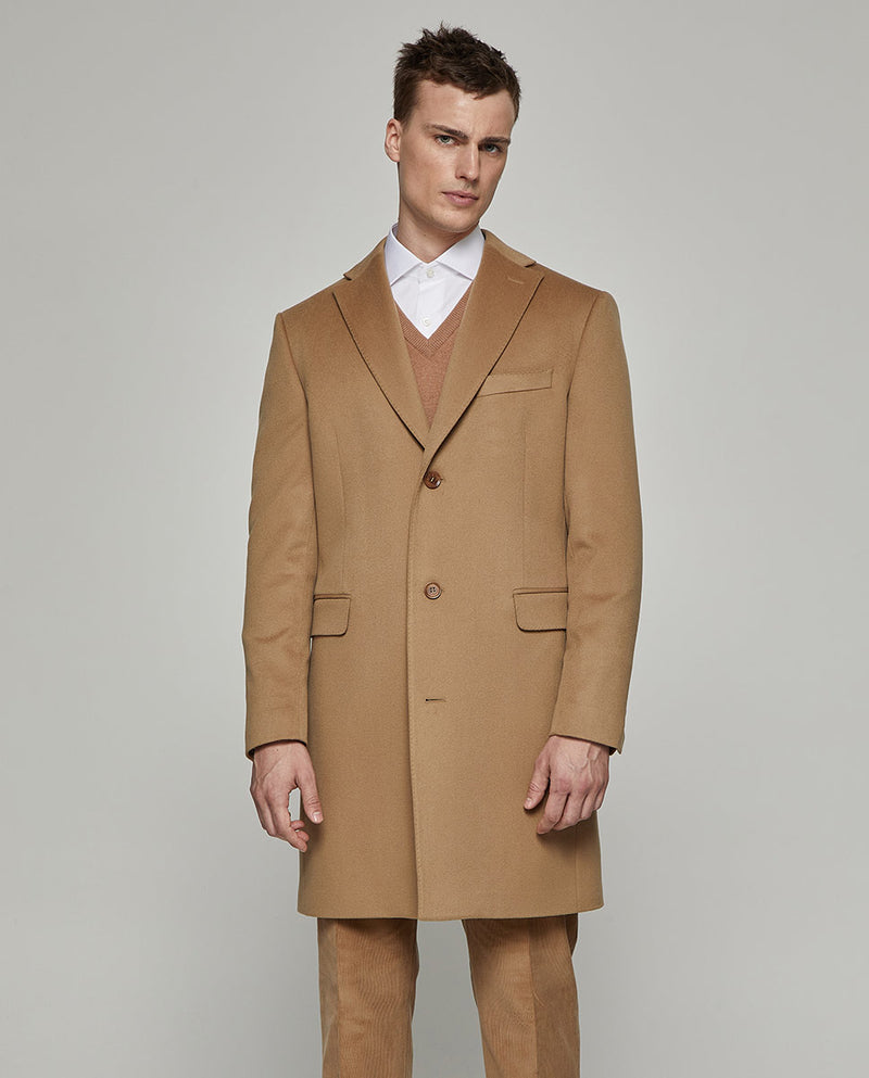 CAMEL VIRGIN-WOOL CITY-COAT