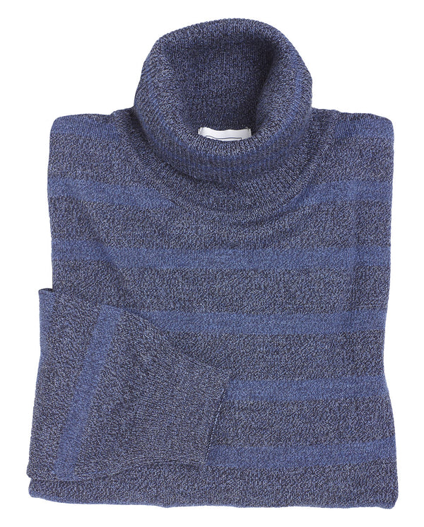 STRIPED WOOL ROLLNECK SWEATER