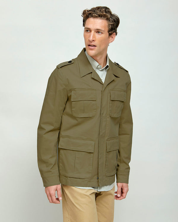 FIELD JACKET DE ALGODON KAKI by MIRTO