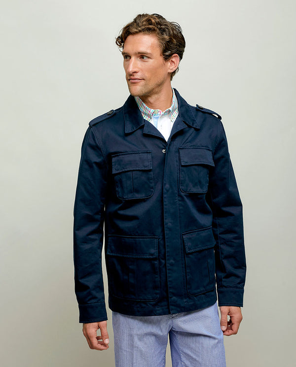 FIELD JACKET DE ALGODON MARINO by MIRTO
