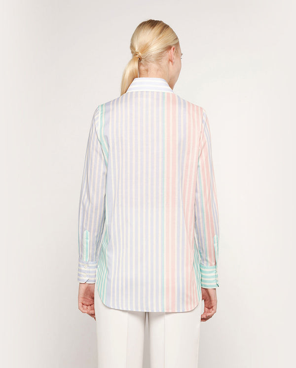 BLUE STRIPED COTTON SHIRT