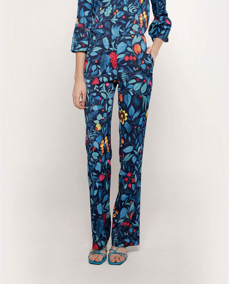 FLORAL PRINT TROUSERS by MIRTO