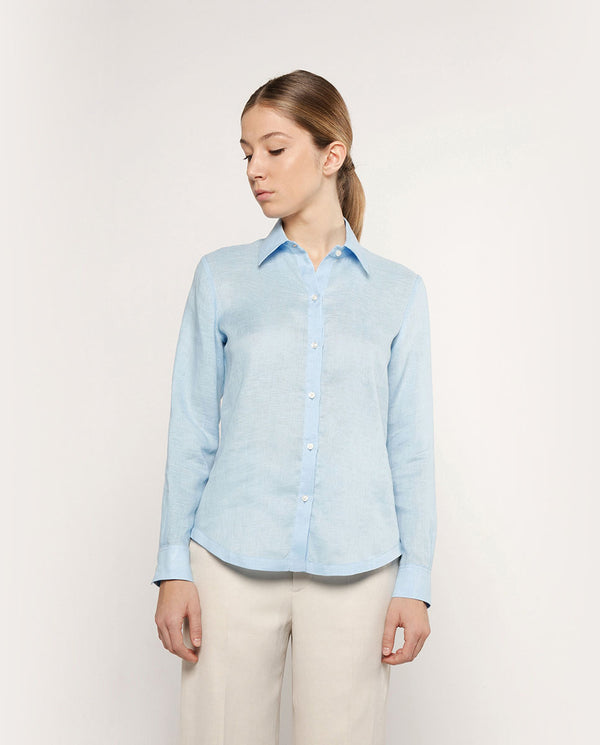 WHITE LINEN SHIRT by MIRTO