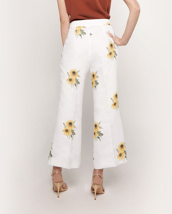 PANTALON DE LINO ESTAMPADO by MIRTO