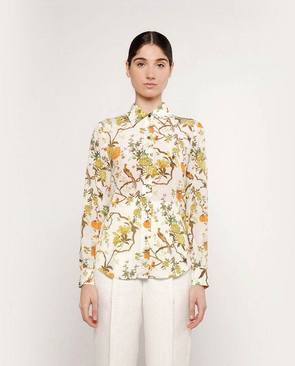 BLUSA ESTAMPADA DE SEDA by MIRTO