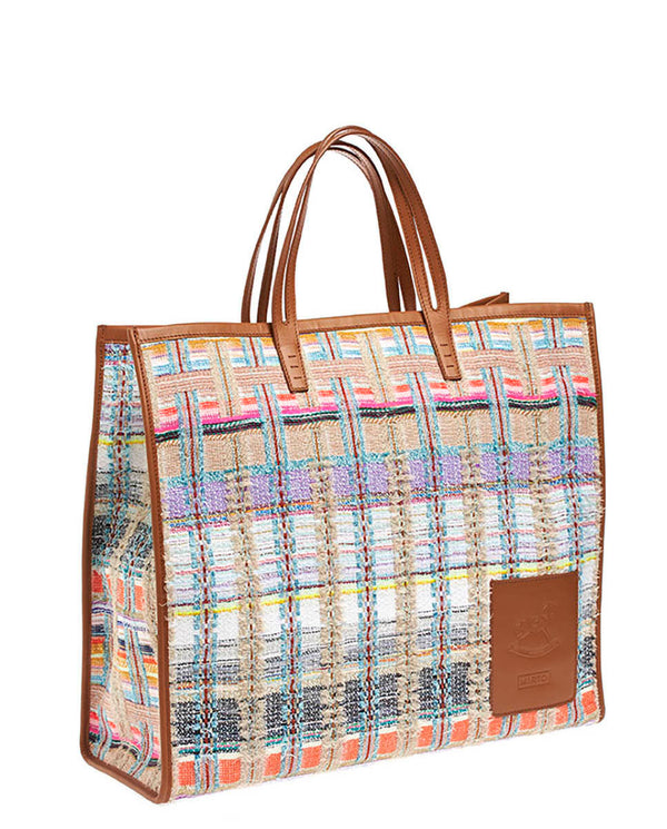 PLAIDS MAXI TOTE BAG -ONLINE EXCLUSIVE-