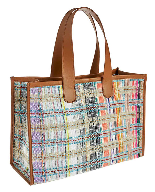 PLAIDS MEDIUM TOTE BAG -ONLINE EXCLUSIVE-