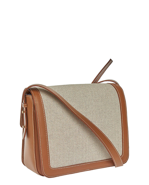 CANVAS CROSSBODY BAG -ONLINE EXCLUSIVE-