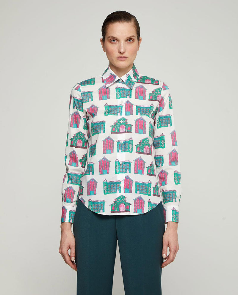 CAMISA ESTAMPADO DE CASAS by MIRTO