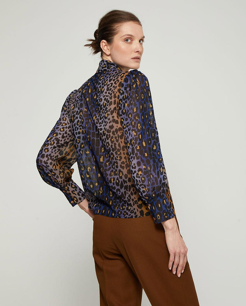 BLUSA CON LAZADA ANIMAL PRINT by MIRTO