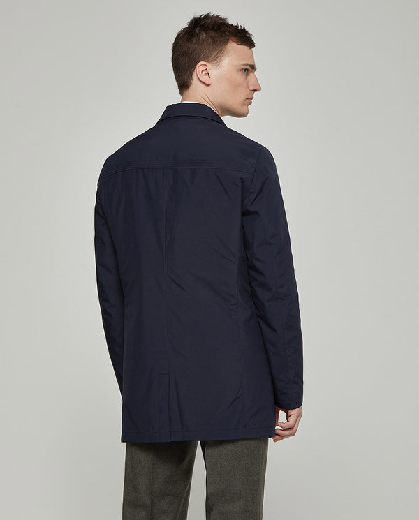 SHELL COAT WITH DETACHABLE LINER