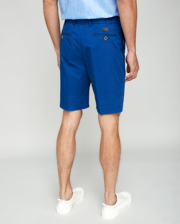 BLUE COTTON WASHED SHORTS