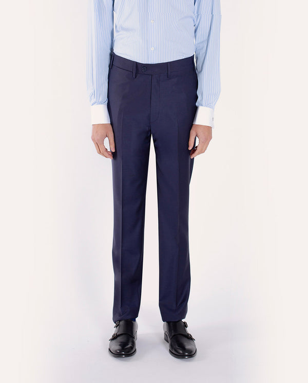 CLASSIC FIT NAVY WOOL TROUSERS