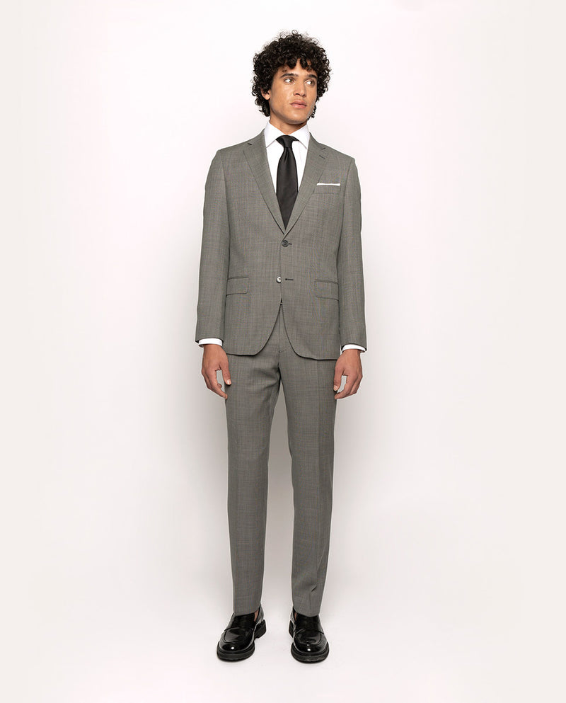GREY SUPER 110`S BIRD-EYE WOOL SUIT