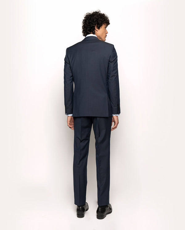 BLUE SUPER 110`S MICRO-TEXTURE WOOL SUIT