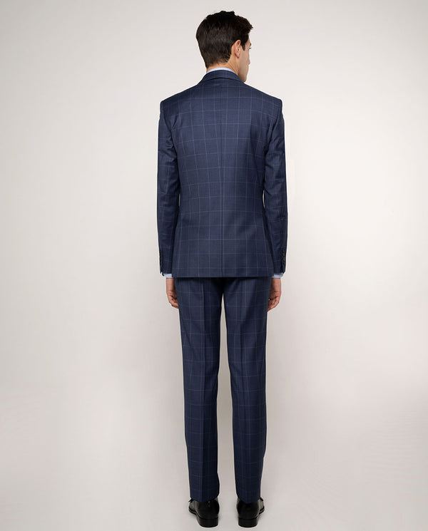 WINDOW-PANE BLUE SUPER 150'S WOOL SUIT
