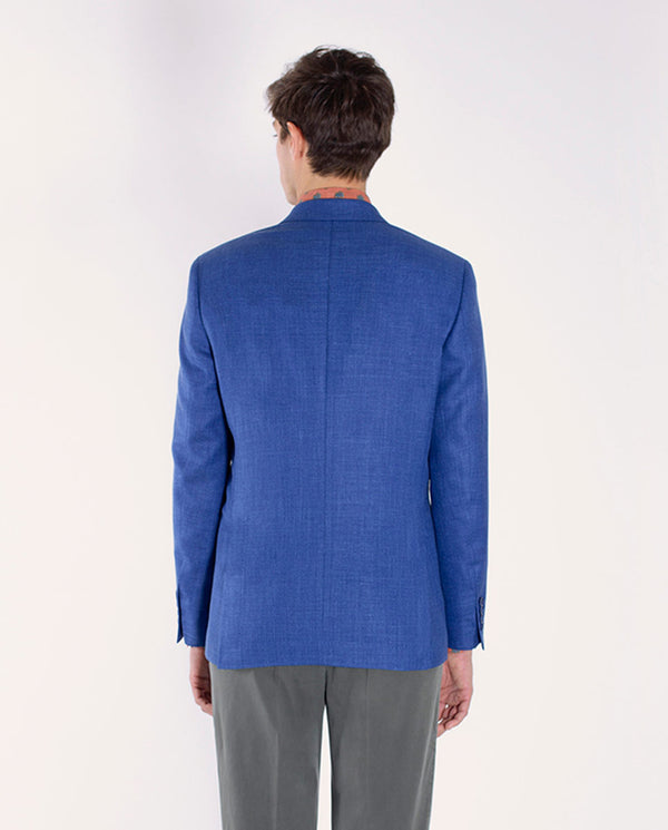 UNSTRUCTURED WOOL-SILK-LINEN BLEND BLAZER