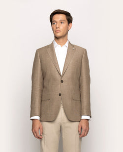 UNSTRUCTURED WOOL-LINEN BLEND BLAZER