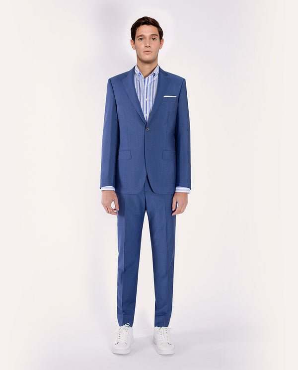 INK-BLUE WOOL-MOHAIR SUIT