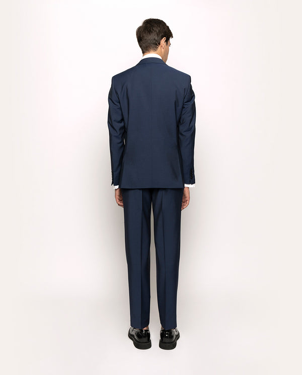 NAVY WOOL-MOHAIR BLEND SUIT