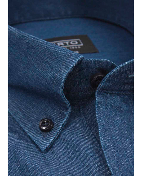 BUTTON DOWN CASUAL DENIM SHIRT by MIRTO