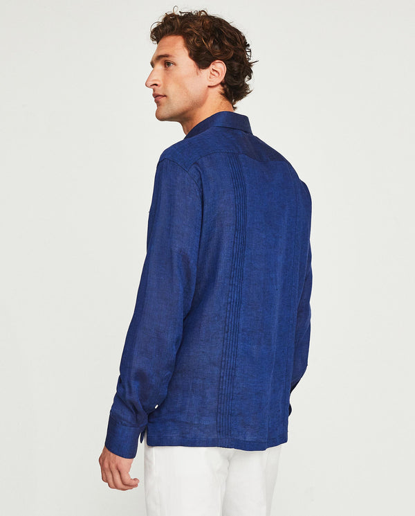 GUAYABERA LINEN SHIRT WITH 4 POCKETS