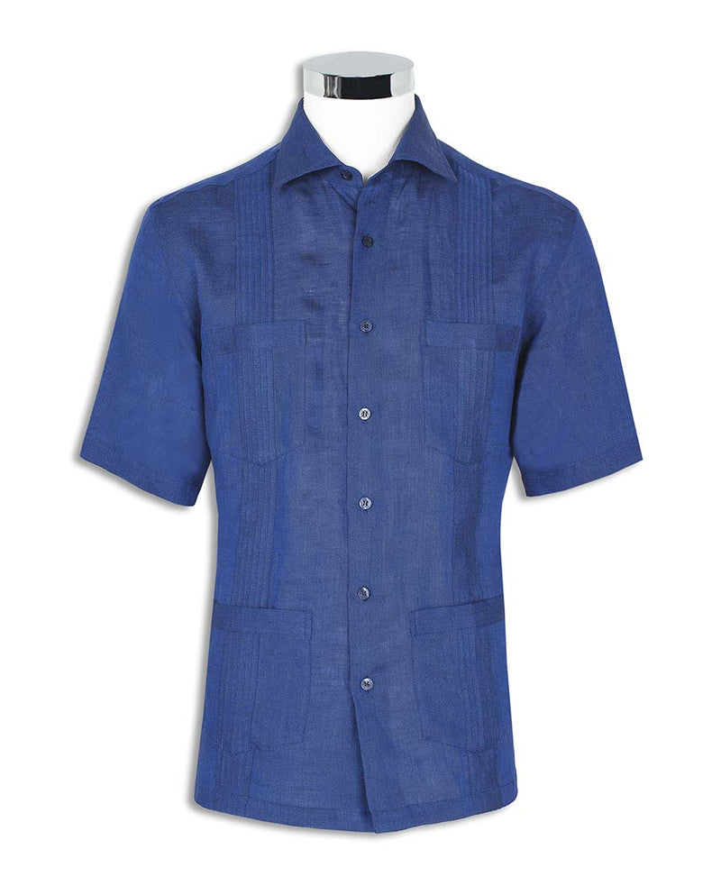 GUAYABERA SHORT-SLEEVES SHIRT WITH 4 POCKETS by MI
